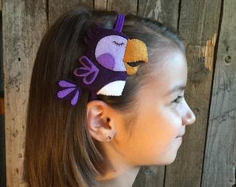 Parrot Bird  Headband - Purple