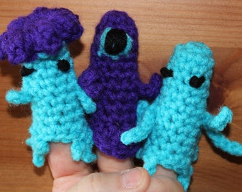 Monster Finger Puppets Crochet Pattern