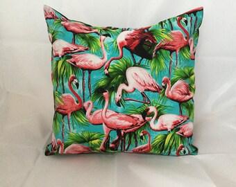 """Flamingo cushion cover 16"""""""