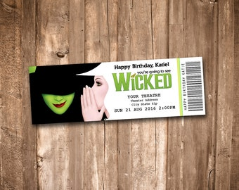 Wicked the Musical Collectible Theater Ticket