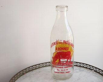 French vintage milk bottles - antique milk bottle - French bottle - vintage milk bottle - French country - rustic
