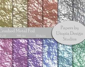 Digital Paper Pack - Crushed Metal Foil