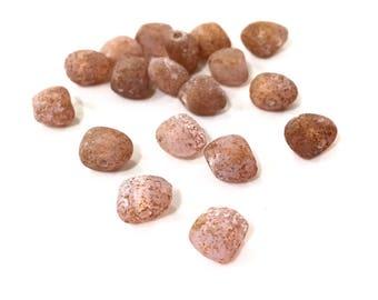 x 10 PCs beads Czech czech stones 6 / 8mm