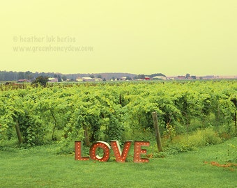 LOVE quote - Canada Photography - Romantic Nature Wall Decor - Toronto Fine Art Print, Love Sign, Romance, Letters