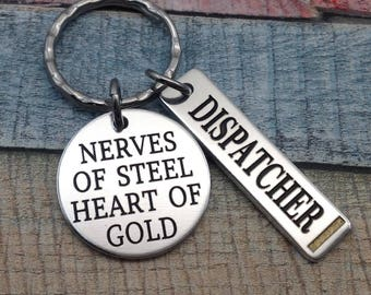911 Dispatcher GIFT, Dispatcher Key chain, 911 Operator key clasp, 911 Professional gift, dispatch officer Key Ring, Dispatcher Gift