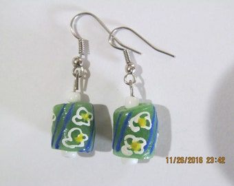 Green Clover Earrings