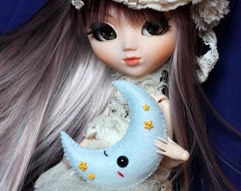 Cushion, Pillow or Plush Moon for Blythe, Pullip, ...