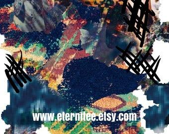 Abstract art print 8x10 inch original art home decor wall art