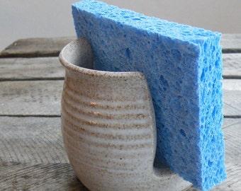 Kitchen Gift for Her - Hostess Gift - White Kitchen Sponge Holder - Bath Spongie