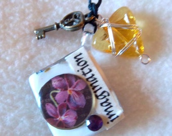 Imagination / Play Healing Art Necklace, No.12