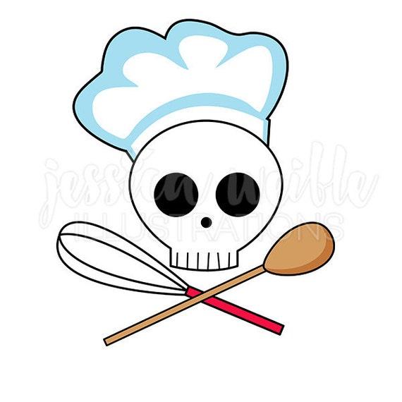 skull chef clip art cute digital clipart chef clip art cooking graphics illustration 1690 rh etsy com chief clip art chef clip art free images