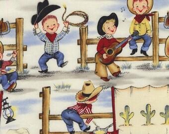 Lil cheval rétif Michael Miller tissu par la Cour Cowboy Western tissu