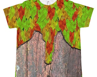 Bark and Leaf Fantasy Fairy Armor Kid's T-shirt