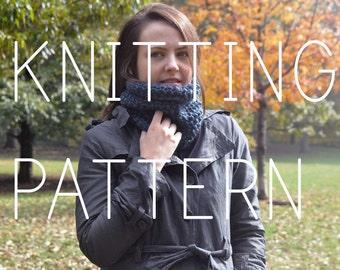 Knitting Pattern - Simple Neck Cowl - Easy - Beginner - Digital Download