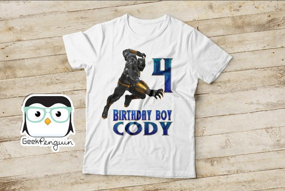 Black Panther Birthday Shirt
