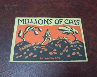 "Vintage 70s ""Millions of Cats"" Paperback Children's Book by Wanda Ga'G"