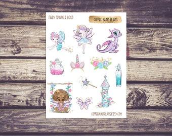 Fairy Sparkle Glitter Deco Planner Stickers
