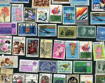 Australian 50 Used Stamps