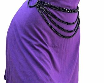 Cadenas en la cintura de metal cadena cinturón gótico negro año de cosecha 70 cm - 150 cm