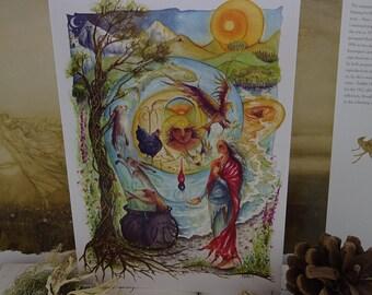 Cerridwen's Spell A5 Art Card