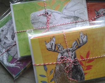 Animal Pack - Set of 5 Cards