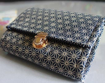 """5.5 """" blue white cards and coins wallet"""