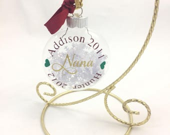 Personalized Ornament for Grandma, Personalized Ornament for Nana, Gift for Grandma, Gift for Nana, Ornament for Grandmother