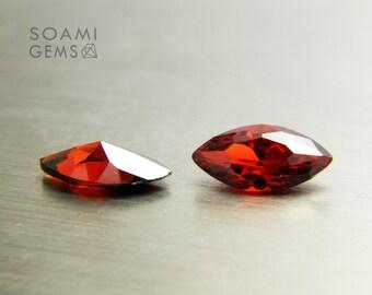 Loose Cubic zirconia garnet, 3x6, 4x8, 5x10, 6x12, 7x14 mm marquise cut  red garnet cubic zirconia faceted gem