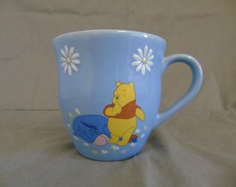 vintage disney whinnie the pooh and eeyore mug