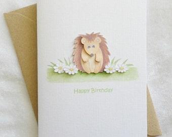 Little Hedgehog Birthday Card