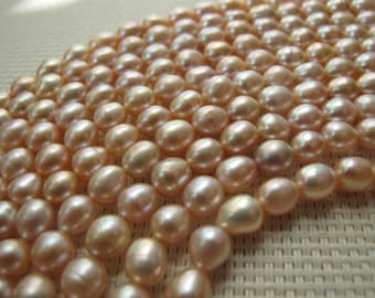 7-8mm Pink Freshwater Rice Pearl PL116