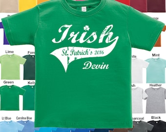 Irish - St. Patrick's Day - T-Shirt - Personalized with Name & Year / Boys / Girls / Infant / Toddler / Youth sizes