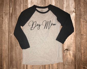 Dog Mom Womens 3/4 Sleeve Top