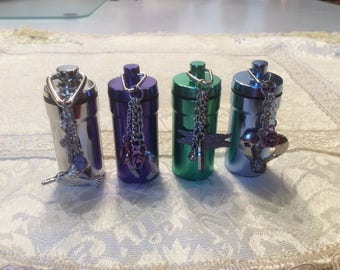Choose One ~ CREMATION ASH URN Memorial Human Pet Ashes Loved One Small Vial Personal Case