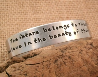Cuff bracelet - Quote bracelet - Inspiration Jewelry - Mom bracelet