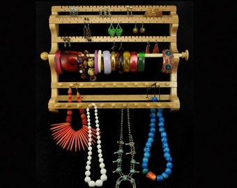 Mission Style Hanging Combo Earring Holder Necklace Holder
