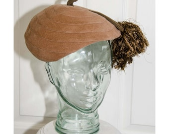 Vintage 1930's Saks Fifth Avenue Tam O'Shanter Woman's Hat