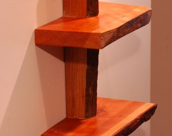 No. 16 - Cherry-Walnut Live Edge Shelf