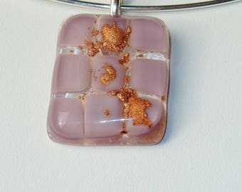 """Yoga"" fused glass necklace"