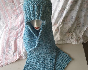 Scarf with Hood Handknitted