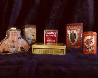 Lot of All Vintage Tins
