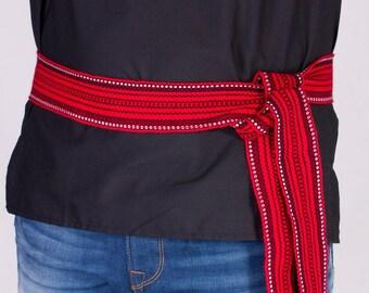 Woven belt Ukraine Ukrainian embroidered shirt belt. Krayka, Folk Belt. Krayka is woven for embroideries. Vyshyvanka Ukrainian.