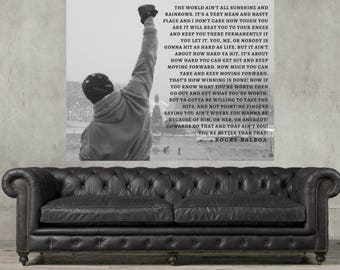 Rocky,  Rocky Balboa, Life quote, Inspirational art, Boxing, Art print, wall art, rocky speech, fathers day gift, Rocky inspiration,
