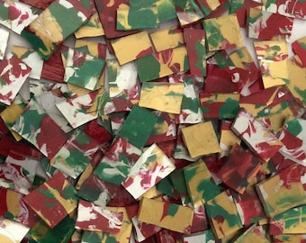 Mosaic Tile HP Red green gold silver stained glass Mosaic Tiles