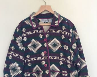 Southwestern-inspired printed cotton jacket