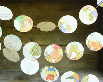 Birthday Party Garlands, Richard Scarry, Busytown Party, Confetti Garland, Party Decoration, 2 inch Dots, 10 feet long, made to order
