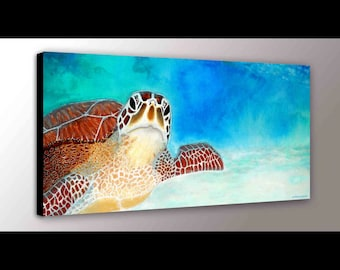 Sea Turtle Wall Art | Sea Turtle Decor | Sea Turtle Art | Ocean Art | Marine Life | Green Sea Turtle | Nursery Art | Turtle Gift for her