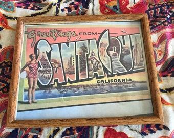 Santa Cruz, CA, framed print