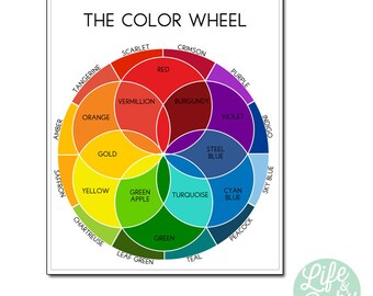 25x30 Color Wheel Poster  {PRINTABLE POSTER}
