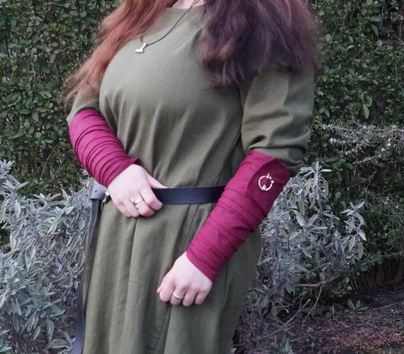 Viking Leg Wraps Winingas Medieval middleage reenactment romanic celtic germanic linnen ochre yellow larp fantasy 8vYJLmwXV